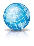 Globo azul 2 Foto de archivo libre de regalías