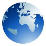 Globo azul Foto de Stock Royalty Free