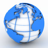 Globo azul Imagens de Stock
