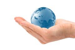 Globo azul imagens de stock royalty free