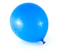 Globo azul Imagenes de archivo