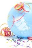 Globo azul del cumpleaños con el número 40 Imágenes de archivo libres de regalías