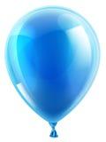 Globo azul del cumpleaños o del partido Fotografía de archivo