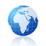 Globo azul del mundo Fotografía de archivo