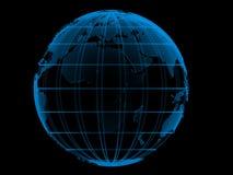 Globo azul transparente Imagem de Stock Royalty Free