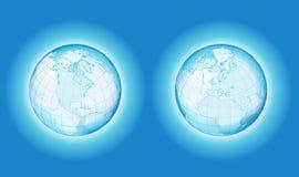 Globo bilateral da transparência ilustração stock