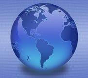 Globo binário azul Imagens de Stock