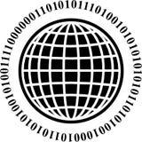 Globo binario illustrazione vettoriale