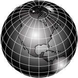 Globo blanco y negro del mundo Imagen de archivo libre de regalías