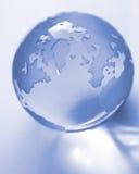 Globo blu Fotografia Stock