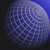Globo blu Fotografie Stock Libere da Diritti