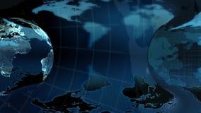 Globo blu della terra su un fondo