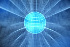 Globo blu luminoso Immagini Stock Libere da Diritti