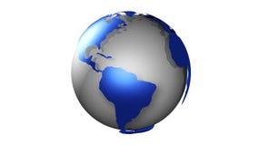 Globo Chrome azul no branco ilustração stock