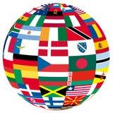 Globo com bandeiras Imagens de Stock