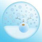 Globo com boneco de neve Foto de Stock
