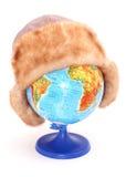 Globo com o chapéu nele Imagem de Stock Royalty Free