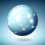 Globo com satélites Fotos de Stock