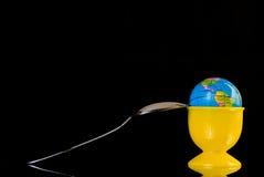Globo come uovo di Pasqua Immagine Stock