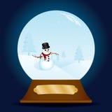 Globo con clase de la nieve del muñeco de nieve Imágenes de archivo libres de regalías