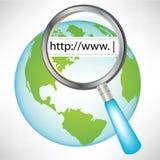 Globo con concepto del World Wide Web Imágenes de archivo libres de regalías