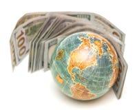 Globo con el dinero foto de archivo