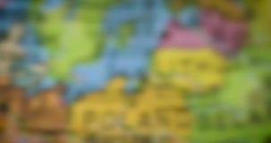 Globo con el mapa del país de Hungría almacen de metraje de vídeo