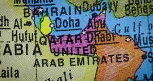 Globo con el mapa del país de United Arab Emirates almacen de video