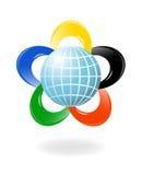 Globo con i colori della f Immagine Stock Libera da Diritti