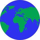 Globo con i continenti dorati fotografie stock libere da diritti