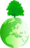 Globo con l'albero 2 Immagini Stock Libere da Diritti