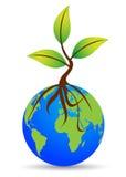 Globo con la planta stock de ilustración