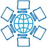 Globo con las pantallas Fotos de archivo libres de regalías