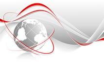 Globo con le righe Fotografia Stock