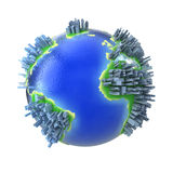 Globo con los edificios ilustración del vector