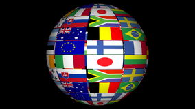 Globo con los indicadores del mundo libre illustration