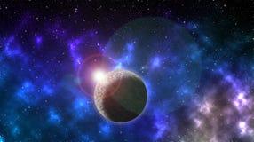 Globo con luz del sol y estrellas ilustración del vector