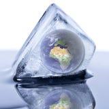 Globo congelado da terra Imagens de Stock Royalty Free