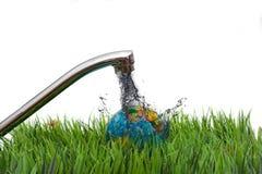 Globo contaminado sucio de la tierra Foto de archivo libre de regalías