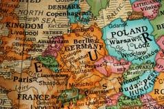Globo - correspondencia de Central Europe Fotografía de archivo