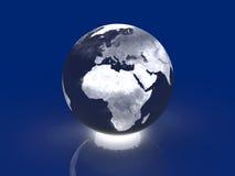 Globo d'ardore - Europa, Africa Fotografia Stock Libera da Diritti