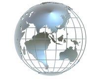 Globo d'argento illustrazione di stock
