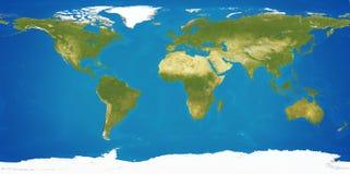 Globo 3d-illustration del pianeta Terra della mappa di mondo Immagini Stock