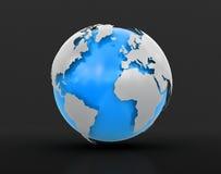 globo 3d (trayectoria de recortes incluida) Fotos de archivo
