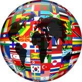 Globo da bandeira Fotos de Stock