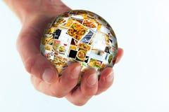 Globo da colagem da culinária do mundo Imagens de Stock
