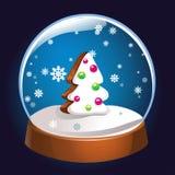 Globo da neve com o interior da árvore de abeto do Natal isolado no fundo escuro Bola da mágica do Natal Ilustração de Snowglobe  Fotos de Stock Royalty Free