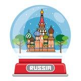 Globo da neve do russo Imagens de Stock