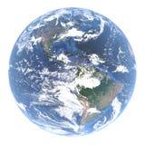 Globo da terra - America do Norte e Ámérica do Sul atrás das nuvens, 3d rendição, elementos desta imagem fornecidos pela NASA ilustração royalty free