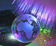 Globo da terra da tecnologia Imagens de Stock